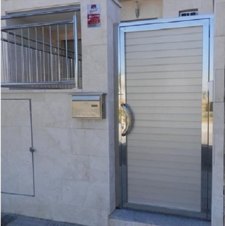 Puertas de acero inoxidable para exteriores vendo puerta for Puertas chalet exterior